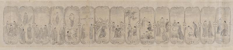 国内最古級のキリシタン信仰画「ご聖体の連祷と黙想の図」一般公開始まる