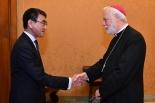 教皇の来年訪日、政府して協力惜しまない 河野外相がバチカン外相と会談