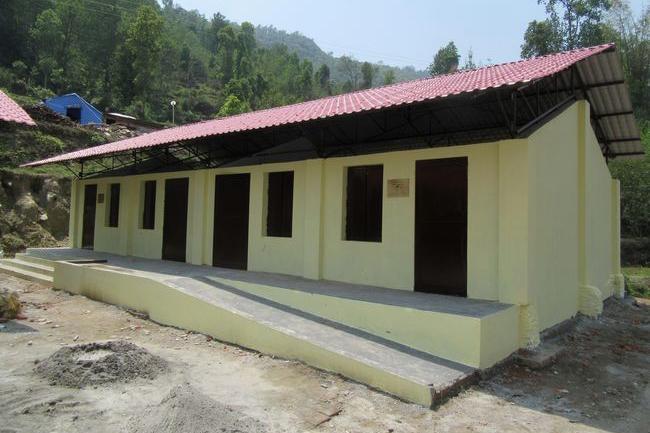 キャンペーンによってネパールに建てられた5つ目の校舎<br />