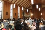 関西学院大で阪神・淡路大震災メモリアルチャペル 160人が追悼の祈り