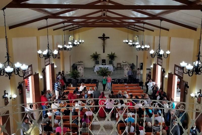 キューバ・サンディノに、キューバ革命後初のカトリック教会として建てられた「イエスの聖心教会」(写真:米フロリダ州セントピーターズバーグ教区)