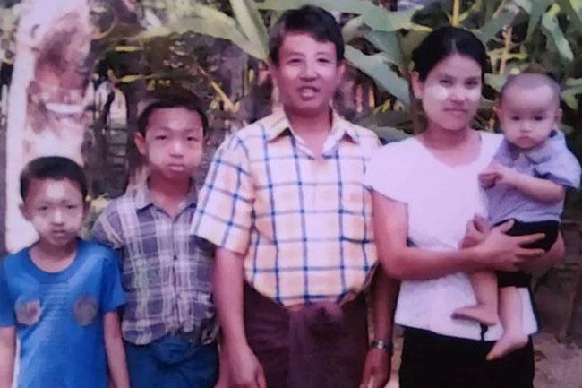 殺害されたミャンマー人牧師のタン・ヌー氏とその家族(写真:ゴスペル・フォー・アジア=GFA)