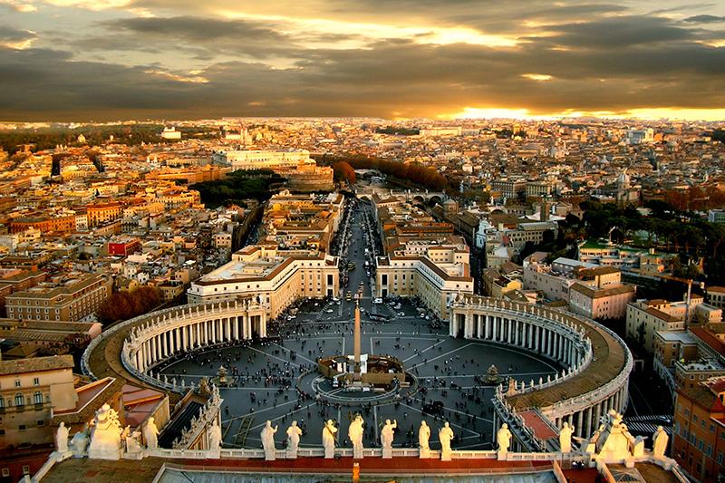 バチカンのサンピエトロ大聖堂からの眺め(写真:Giampaolo Macorig)