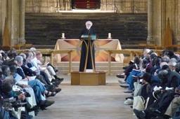 ランベス会議で挨拶する聖公会(アングリカン・コミュニオン)の霊的指導者ローアン・ウィリアムズ大主教=17日、英カンタベリーで(Lambeth Conference/Christian Post)