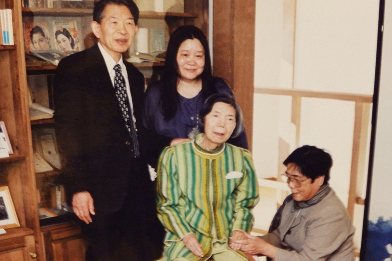 召される約半年前の三浦綾子さん=塩狩峠記念館で