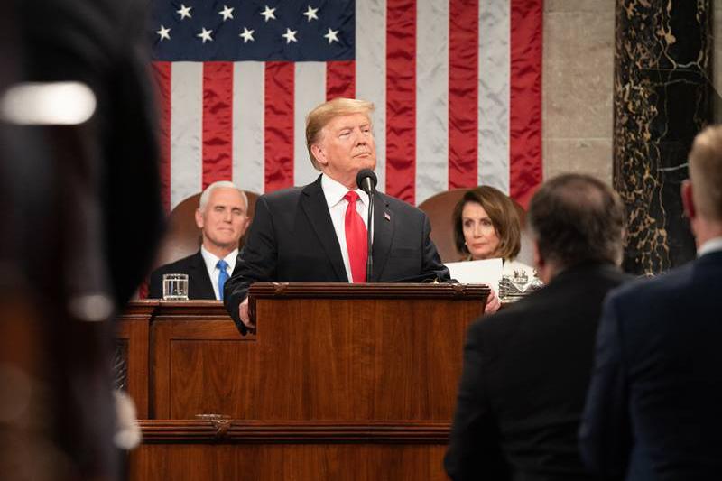2月5日に米議会で就任2度目となる一般教書演説をするドナルド・トランプ大統領(写真:ホワイトハウス / Shealah Craighead)