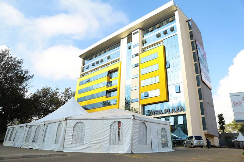 このほど完成したアフリカ福音同盟(AEA)の本部ビル「AEAプラザ」(写真:AEA)<br />