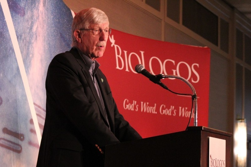 「バイオロゴス・カンファレンス2019」で講演する米国立衛生研究所(NIH)所長のフランシス・コリンズ氏=3月27日、米メリーランド州ボルチモアで(写真:クリスチャンポスト)<br />