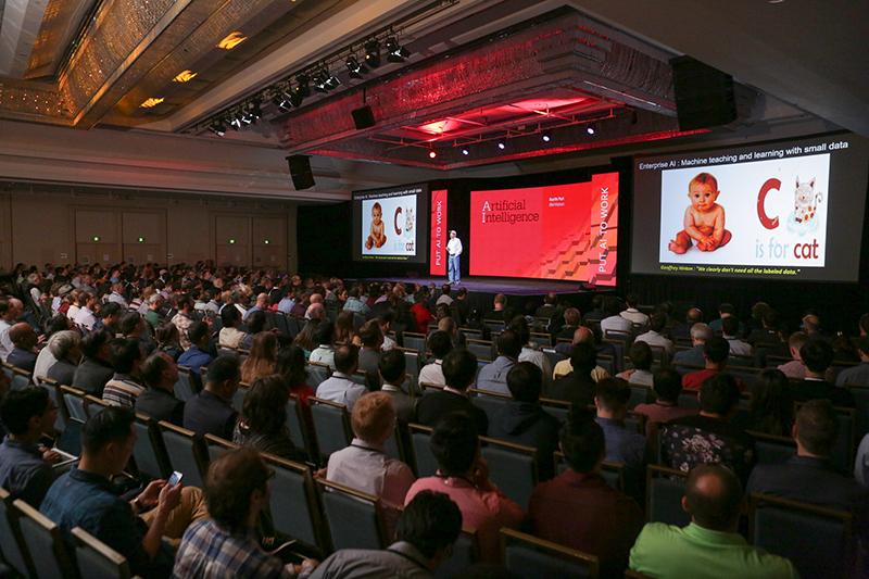 2017年に米サンフランシスコで開かれた人工知能(AI)をテーマにしたカンファレンス(写真:O'Reilly Conferences)