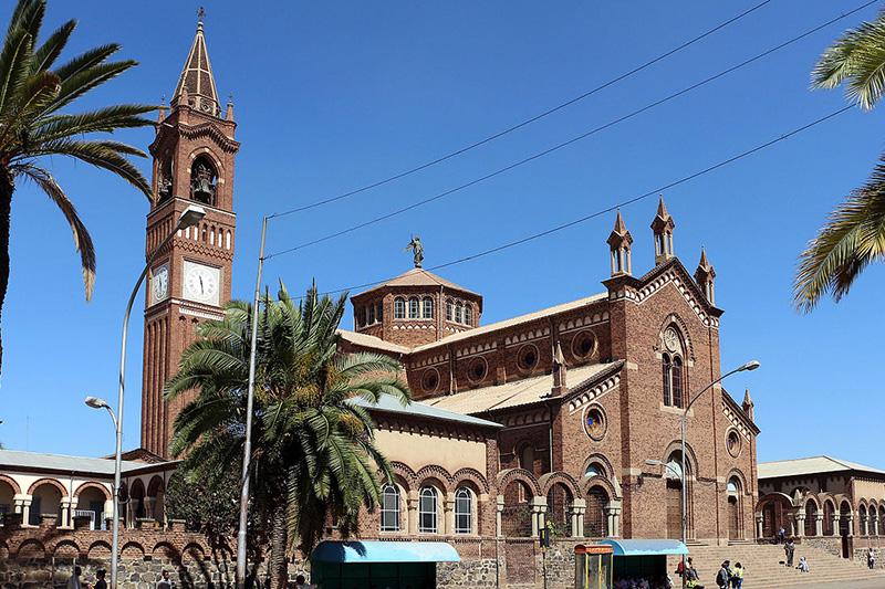 エリトリアの首都アスマラにあるロザリオの聖母教会(写真:sailko)
