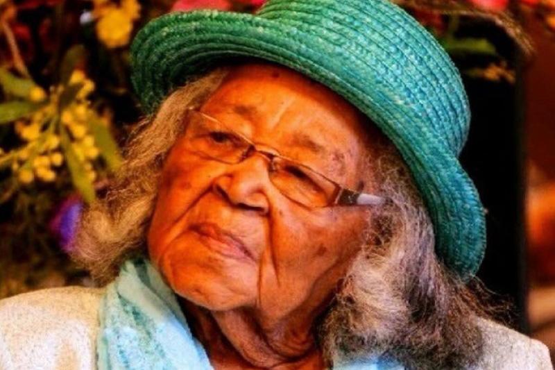 105歳の現役説教者であるハティー・メー・アレン牧師(写真:フェイスブックより)