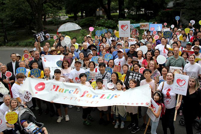 海の日を「産み」の日に 中絶やめよう、300人がデモ行進