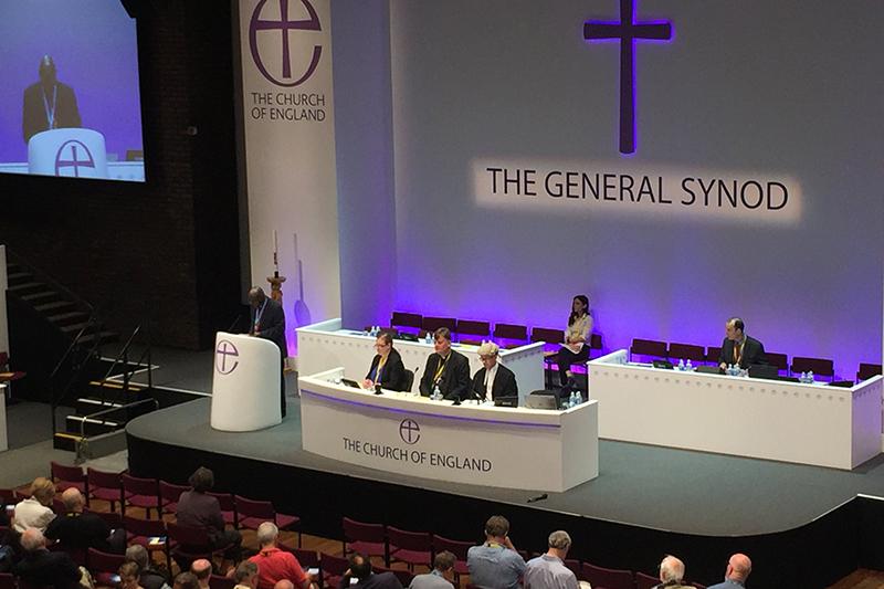 英中部ヨークで5~9日に開催された英国国教会の総会の様子(写真:総会公式ツイッターより)
