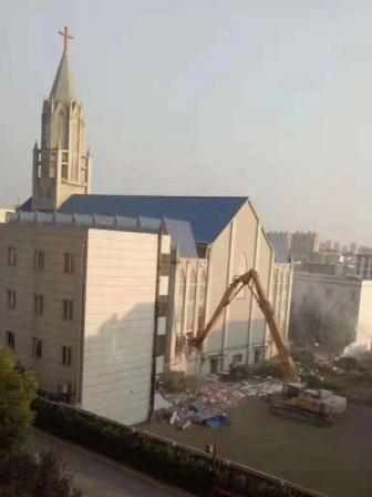 中国当局、3千人収容のメガチャーチを破壊 牧師らを拘束