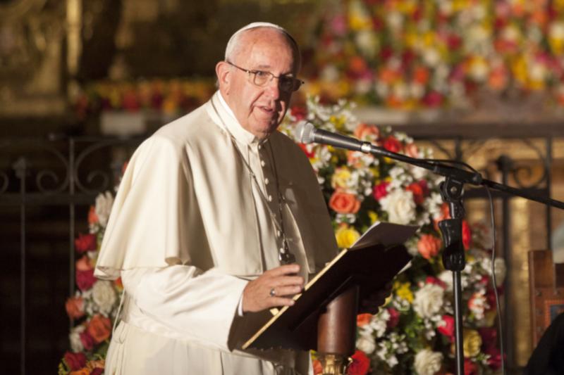 ローマ教皇フランシスコ=2015年(写真:エクアドル外務省)<br />