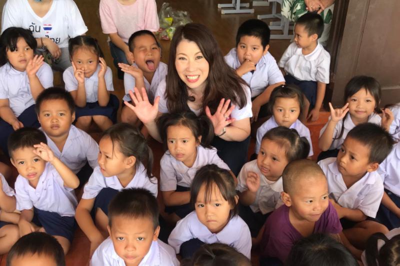 タイ・チェンマイの孤児院の子どもたちと共に