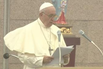 核兵器の使用「犯罪以外の何ものでもない」 教皇、長崎と広島でメッセージ