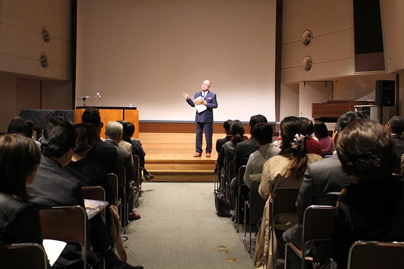 「商売のコツは聖書にある」 ロングライフホールディングの遠藤正一社長が講演