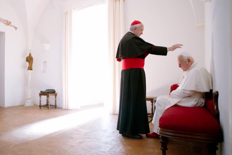 映画「2人のローマ教皇」(画像:予告編より)