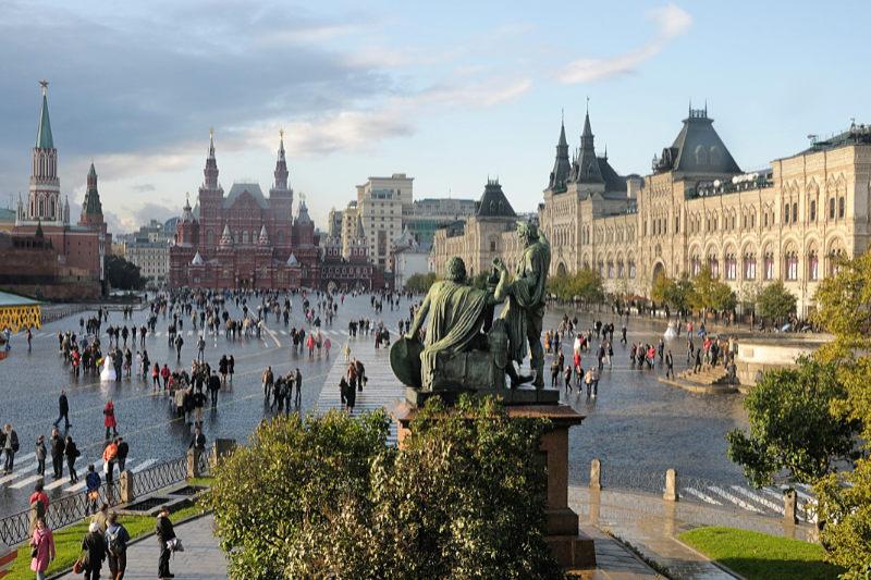 モスクワ中心部にある「赤の広場」=2008年(写真:Christophe Meneboeuf)