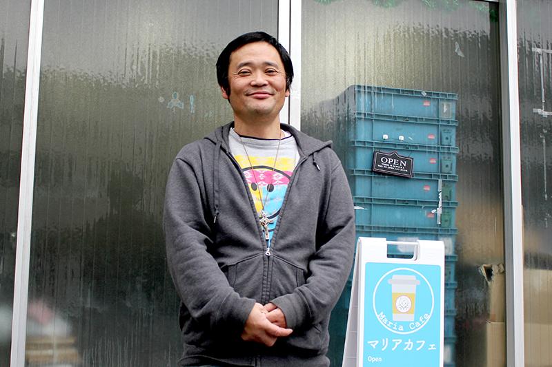 幸田賢吾さん=2019年12月17日、マザーハウス(東京都墨田区)の事務所前で