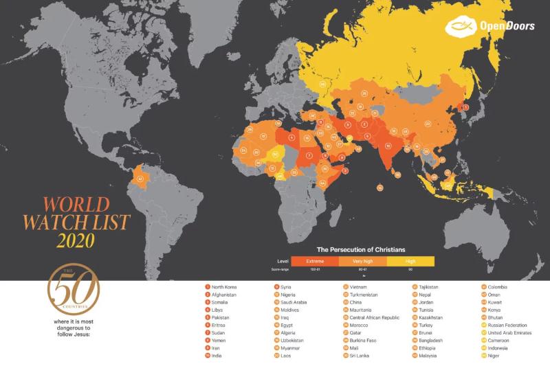 世界の迫害国リスト発表、攻撃受けた教会・施設は9千以上 北朝鮮が19年連続ワースト1位