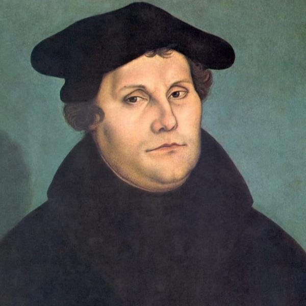 マルティン・ルター像(ルーカス・クラナッハ画、1529年、ウフィツィ美術館蔵)