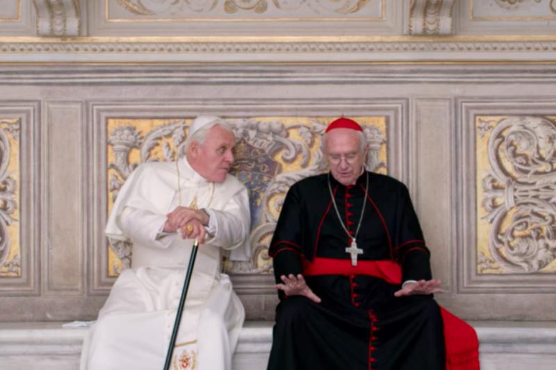 「神に召されてしまった」キリスト者たちの本音を吐露するエンタメ系宗教ドラマ 「2人のローマ教皇」