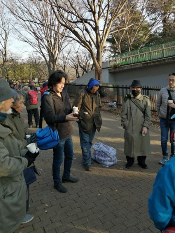 代々木公園のホームレス伝道「通路チャペル」 ココロケアの働き