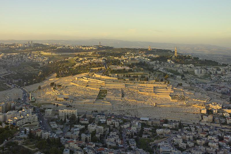 イエス・キリストの昇天の場として知られているエルサレム東郊の丘陵「オリーブ山」(写真:Andrew Shiva)