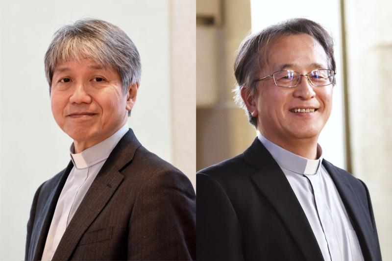 ルーテル学院大学の新学長に選任された石居基夫氏(左)と、日本ルーテル神学校の新校長に選任された立山忠浩氏(写真:同学院提供)