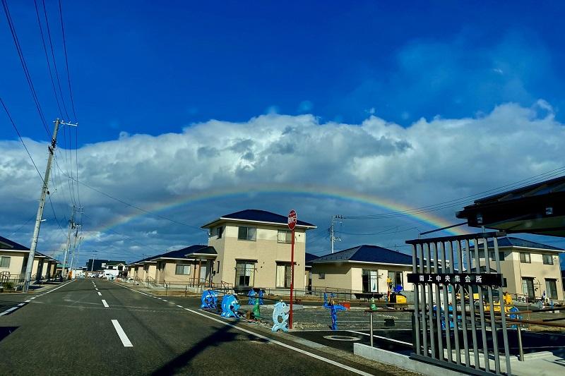 震災9年の被災地に虹、ノアに語った神の約束覚え感動の声上がる