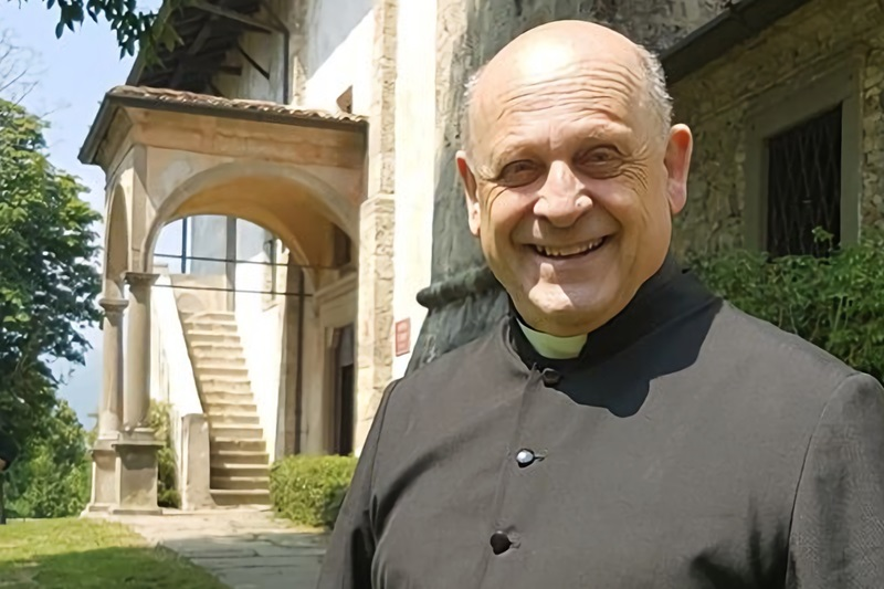 ジュゼッペ・ベラルデッリ神父(写真:カズニーゴ礼拝堂のフェイスブックより)