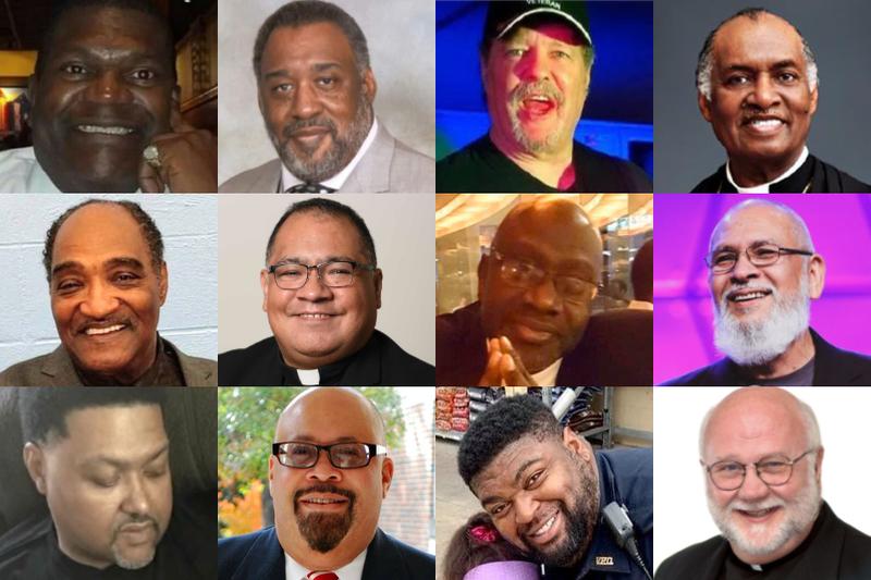 新型コロナウイルスの感染症により、4日までに亡くなった米国内の牧師や神父ら12人(写真:各自のSNSや教会の公式サイト・SNS他より)<br />