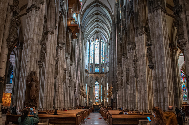 ケルン大聖堂の内部=2019年9月30日(写真:Sagar)