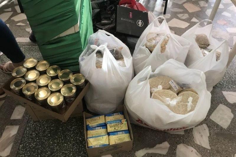 旧ソ連諸国の困窮者に配布される食料(写真:スラブ福音協会=SGA)