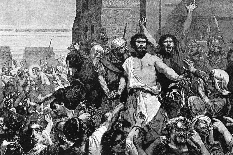 イエスの代わりに釈放された強盗バラバの絵(画像: