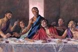 黒人のイエス・キリストが描かれた「最後の晩餐」 英国の大聖堂で展示へ