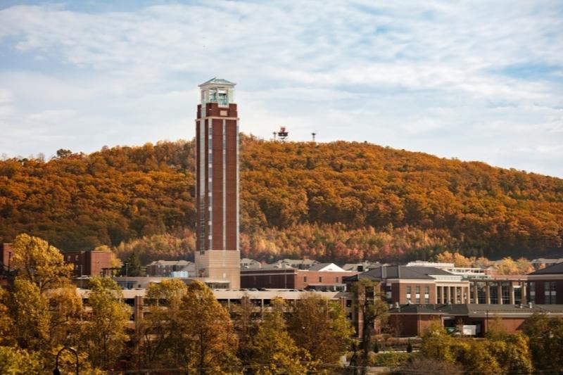 米バージニア州リンチバーグにキャンパスを置くリバティー大学は、学部・大学院を含め約8万人の学生が在籍しており、学生数では世界で最も大きな福音派の大学の一つとなっている。(写真:同大)
