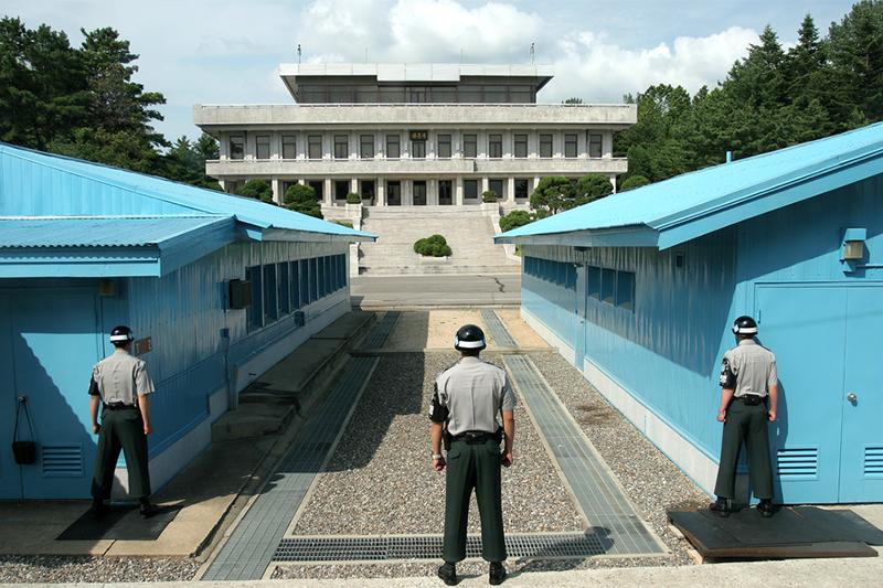 韓国と北朝鮮の軍事境界線にある板門店(パンムンジョム)(写真:Globaljuggler)