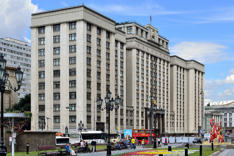 ロシアの国家院(下院)ビル(写真:Dmitry Ivanov)