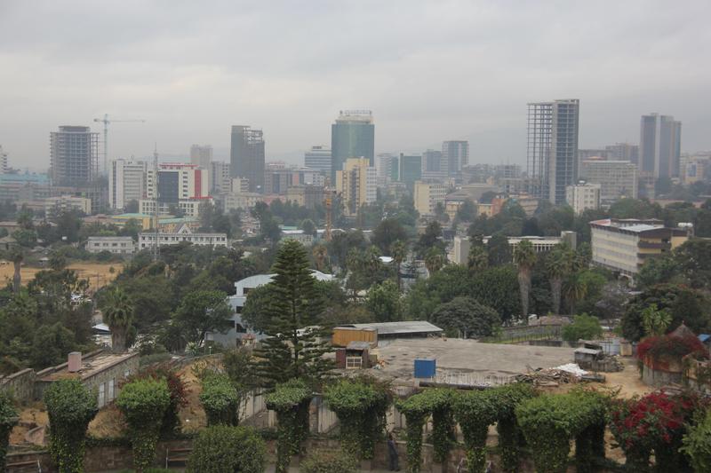エチオピアの首都アディスアベバ市内の様子=2015年(写真:Hotel Kaesong)