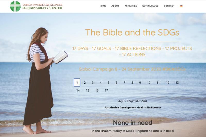 世界福音同盟(WEA)やローザンヌ運動などが協力して開催している「聖書とSDGs」の特設ページ
