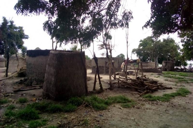 フラニ族の過激派に襲撃された村の家々(写真:ワールド・ウォッチ・モニター)