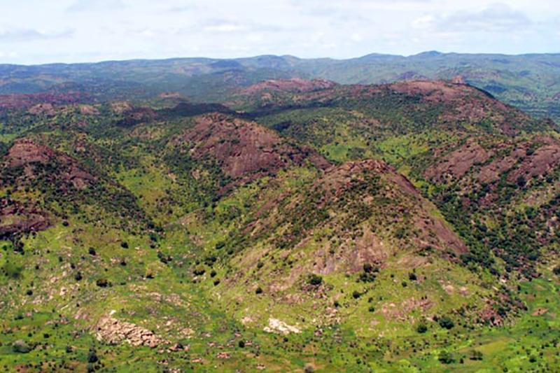 スーダン南部にあるヌバ山地(写真:Andreas31)