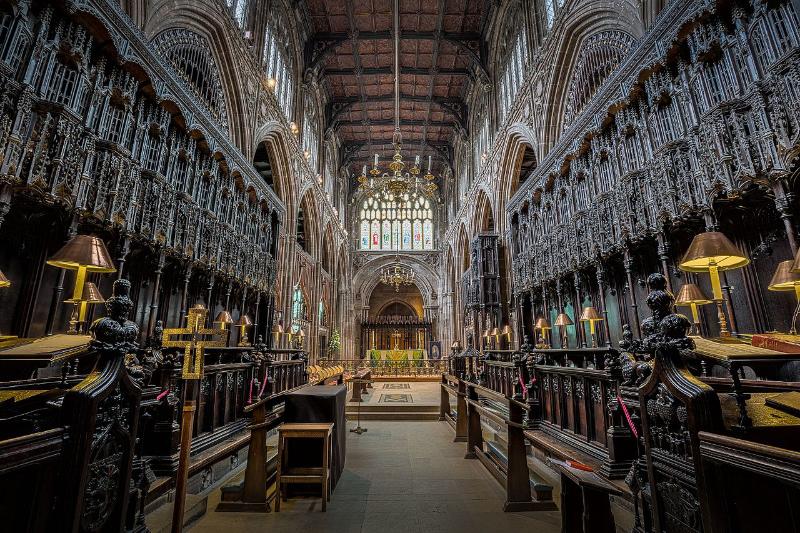 英国国教会のマンチェスター大聖堂内部の様子(写真:Michael D Beckwith)