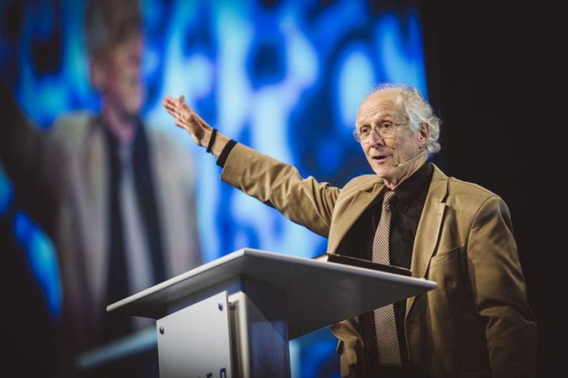 米南部バプテスト連盟の倫理宗教自由委員会と福音派ネットワーク「ゴスペル・コアリション」の共催で開催されたカンファレンスで講演するジョン・パイパー氏=2018年4月5日(写真:Rocket Republic)