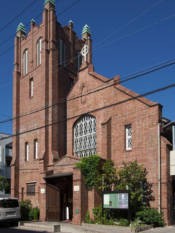日本聖公会大阪教区の主教座聖堂である川口基督教会(大阪市西区)(写真:Ignis)<br />