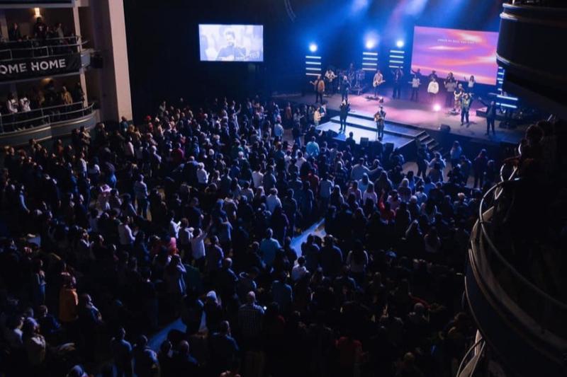 ヒルソング・ニューヨーク教会の礼拝の様子=2020年1月(同教会のフェイスブックより)