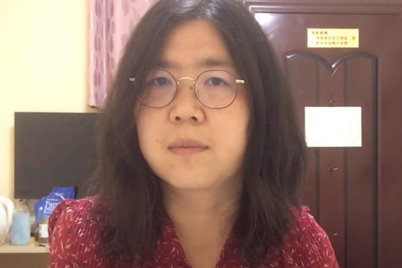 中国・武漢の新型コロナウイルスに関する情報を発信したことで、騒動挑発罪により禁錮4年を言い渡された張展(ジャン・ザン)氏(写真:ユーチューブのスクリーンショット)